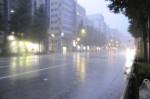 中央通りは凄く水が溜まっていた