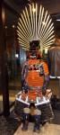サルこと秀吉の鎧は兜の立物含めて2メートルにも