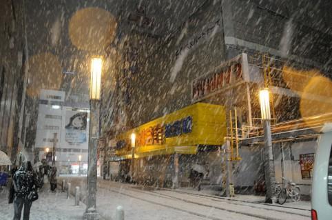 雪の旧ラジ館、結構貴重な写真かな(;^ω^A