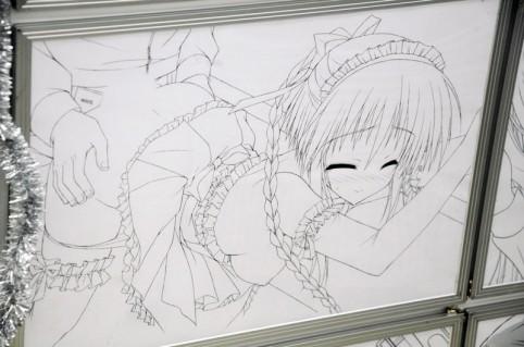 原画になります人気キャラの「東雲希ちゃん」かな(〃▽〃)