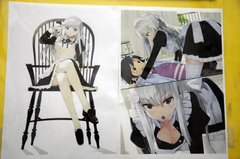 『鳩子さんとラブコメ』nauribon先生の挿絵(*´ω`*)ポッ
