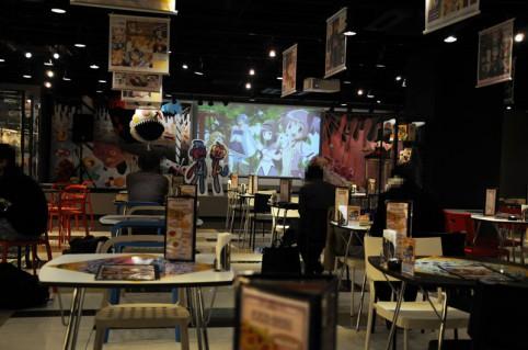 グッ鉄カフェ店内風景です(。^ω^)ノ゙♪2月1日よりミルキィホームズ カフェが開催されています