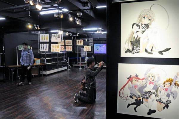 コトブキヤ秋葉原館イベントスペース「這いよれ!ニャル子さん展示会」の入口