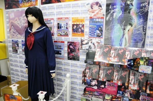 入口には「アニメ コンテンツ エキスポ 2012」でも展示されていた夕子さんの等身大マネキンなどが展示