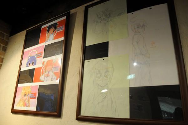 各キャラの場面カットやセル画の下書きなども展示されています