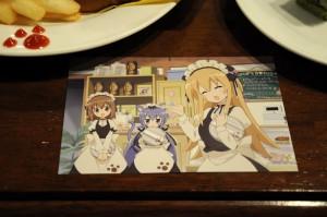 オリジナルメニュー注文で貰えるポストカード