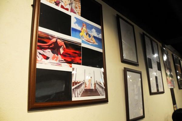 設定画」・「絵コンテ」そしてアニメでの「場面カット」などが展示