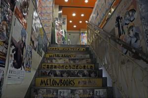 下からはこんな感じ、階段にもおっぱい!欲しいですね