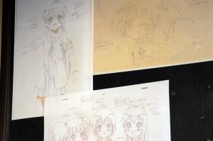 杉浦綾乃とミラクるんの線画